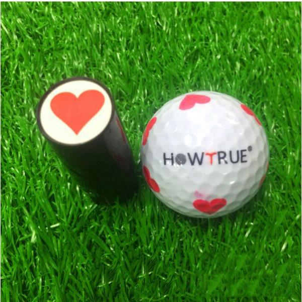 2pcs Golf Ball Stamper Stamp Heart Skull Eagle Print Golfer Gift Keepsake Training Aids Club Accessories