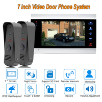 2017 New 7 TFT 1200TVL Video Door Phone Doorbell Intercom System Home Security Camera Monitor With