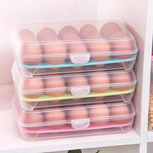 1Pc clear plastic egg box basket organizer egg food container storage box home kitchen transparent case egg box