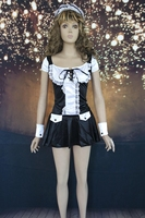 Halloween Kostuums Vrouwen Gratis Verzending Hot Koop Mooie Flirty Meid Uniformen 3S1060 Sexy Fancy Franse Maid Kostuums