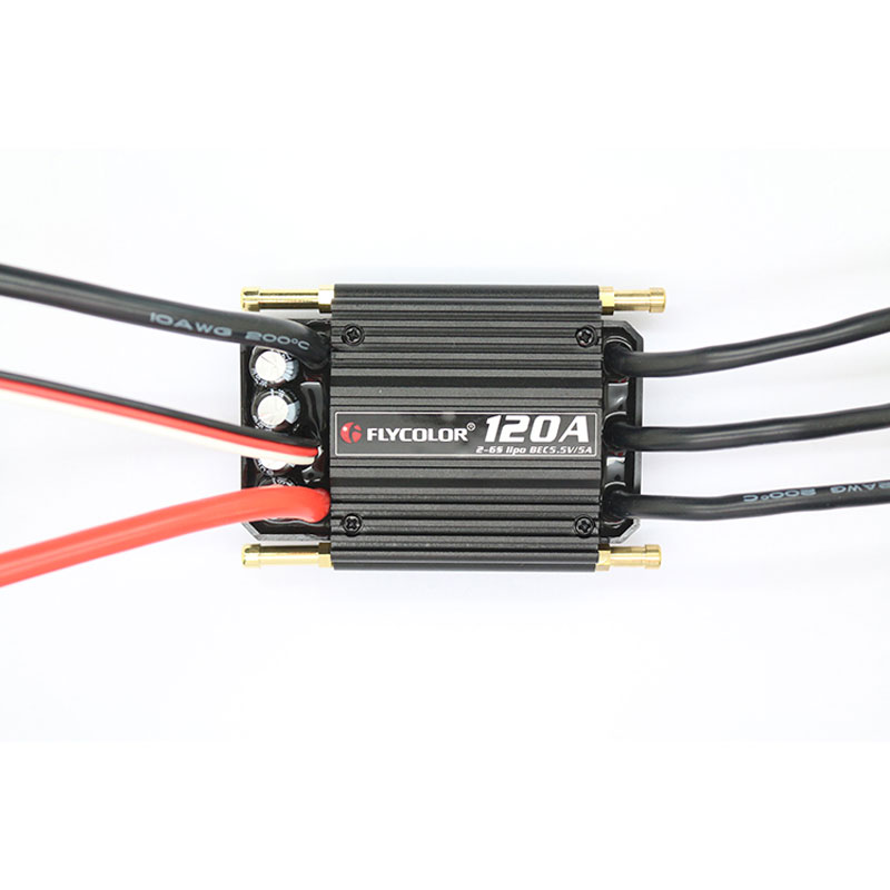 50A 70A 90A 120A 150A Brushless ESC Speed Control Stand 2-6S Lipo BEC 5.5V/5A for RC Boat Flycolor