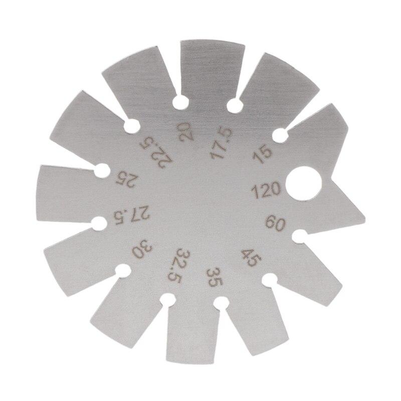 נירוסטה פוע מד זווית מד זווית טווח 15C-120C Gage כלים קוטר 70mm זווית מד לעיבוד עץ כלים