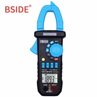 Digital Clamp Meter DC AC 400A Current BSIDE ACM03plus Ammeter Car Voltmeter Multimeter with Resistance Cap Continuity NCV Test