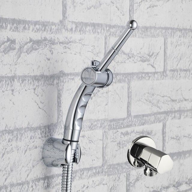 Wc łazienka Hand Held Bidet Diaper Spray Opryskiwacz Prysznic Zestaw