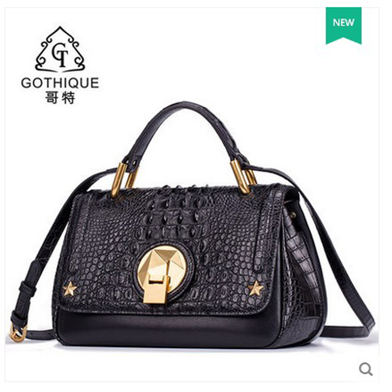 2018 gete new hot thai crocodile skin women handbag single shoulder bag women
