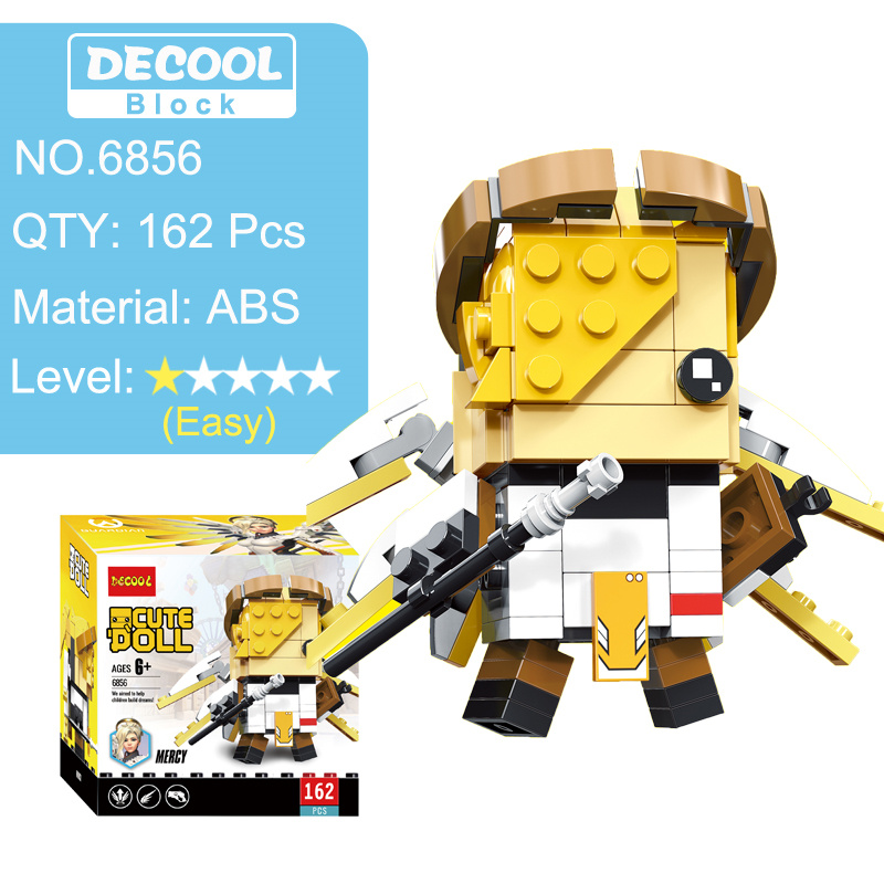 Overwatching Tracer Hanzo Mccree Dva Toys Action Figure Blocks Figures Game Character Figurines  Toy Gift For Boy Men 3