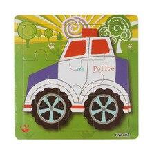 Мода Деревянный Автомобиль Полиции Головоломки Игрушки Для Детей Образование И Обучение Головоломки Игрушки Бесплатная Доставка