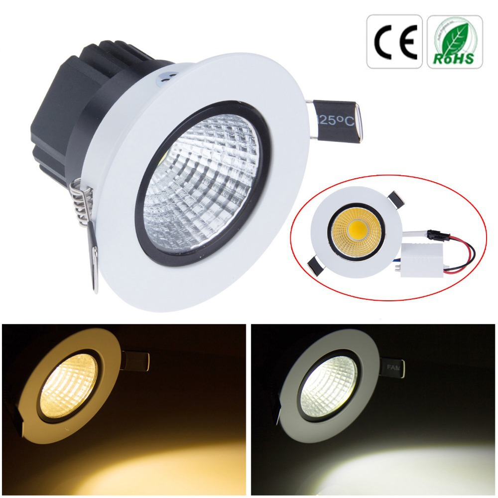New Dimmable Led Downlight Cob Ceiling Spot Light 3w 5w 7w