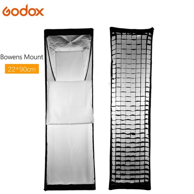 Godox 22x90cm Bowens Mount Softbox with Honeycomb Grid soft box For Video Studio Photo Strobe Flash fotografia accessories