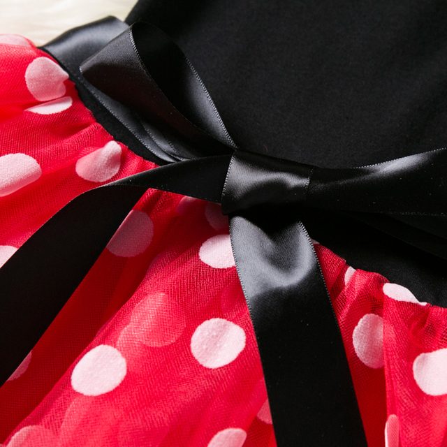 Baby Girls 1 Year Birthday Party Dresses Minnie Mouse Halloween Cosplay Kids Costume Toddler Girls Clothing For Kids 12M 3T Wear