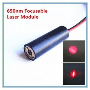 Лазерный модуль с красной точкой, 10 мм, 650 нм, 3/5 В постоянного тока, 5 мВт, фокусируемое позиционирование