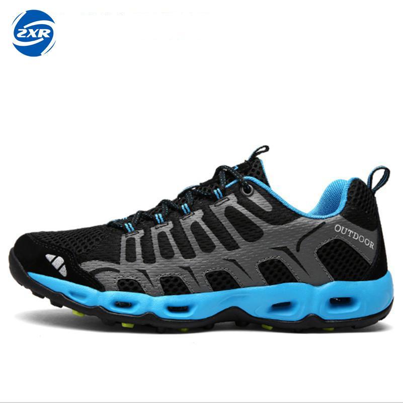Hommes femmes en plein air Aqua chaussures maille respirant eau baskets chaussures séchage rapide léger été eau plage chaussures