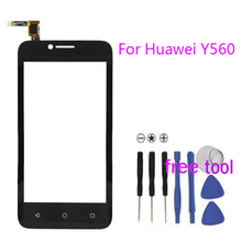 Smartphone Touch Screen For Huawei Ascend Y560 Glass Capacitive Sensor For Huawei Y560 Touch Screen Panel Free Shipping