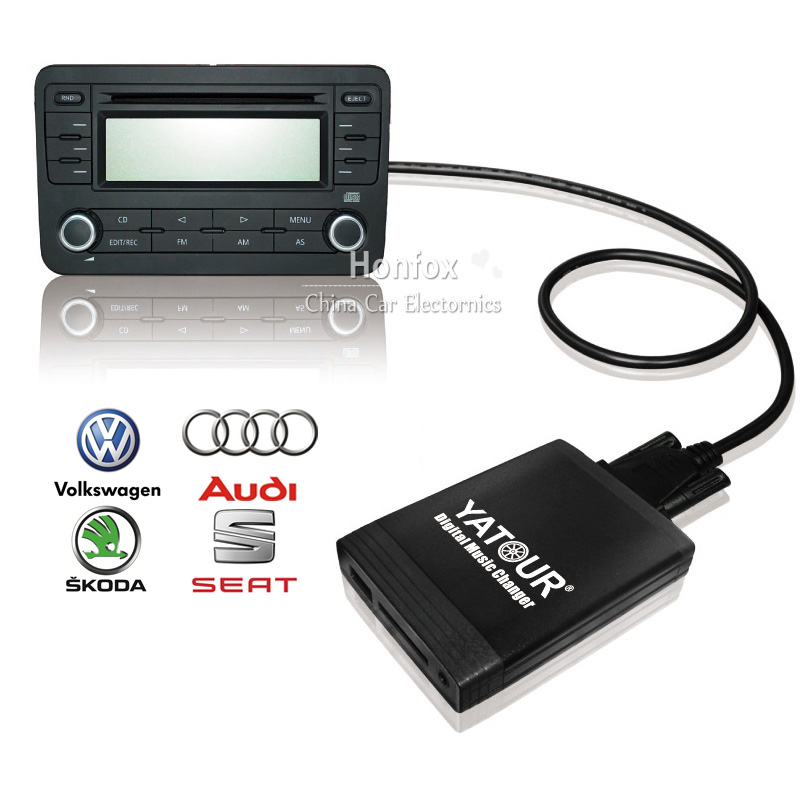 Yatour car digital music changer YT-M06 For VW Skoda Seat Ford ISO 8-Pin Car USB MP3 SD AUX adapter CD Changer car usb sd aux adapter digital music changer mp3 converter for skoda octavia 2007 2011 fits select oem radios