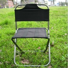 Wholesale Portable Folding Beach Chair Outdoor Fishing Chair Ultra-Light Backrest Chair Camping Barbecue Stool