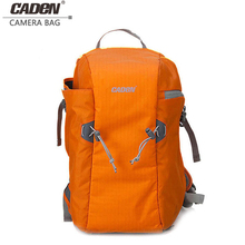 цены Caden Backpacks Big Camera Double Shoulders Bags Soft Polyester Orange Blue Black Digital Camera Backpack For Canon Nikon E 567