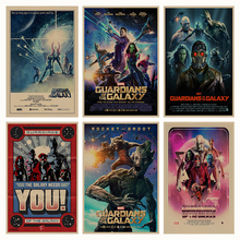 Guardians of the Galaxy retro Poster Retro Kraft Paper Bar Cafe Home Decor Painting Wall Sticker