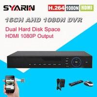 Видеонаблюдения 16ch AHD NH 1080n видеорегистратор Цифровой Регистраторы 16 каналов WI FI Гибридный наблюдения DVR NVR 1080 P HDMI