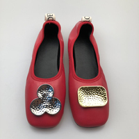 2019SS women Flat of Genuine Leather sheep leather upper new fashion style flats with rubber outsole Spring Flat women shoes