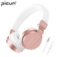 Picun C3 Rose Gold Hoofdtelefoon Met Microfoon Voor Meisjes PS4 Gaming Headsets Voor Apple Iphone SE Galaxy S8 S7 A5 Sony LeEco Asus