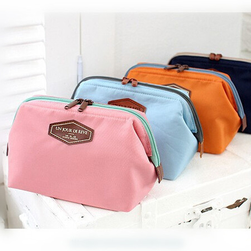2017 NEW Vintage Make Up Cosmetic Bags Women Travel Bag Organizer Bag Women Cosmetic Makeup Cotton Cases Lady 4 Colors fashion cosmetic bags high quality patent leather make up bags ladies cosmetic cases organizer bags cute cosmetic bag