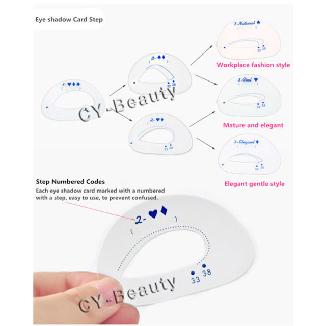 1 Pack Makeup Eye stencils Cat Eye stencil Template Eyeshadow Tools Useful Eye shadow Cosmetics Make up Accessories Kit 1