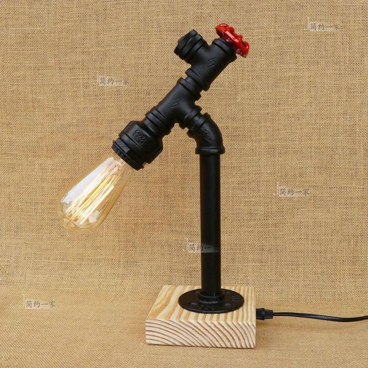 Водопроводных труб лофт американский ретро промышленного ветер прикроватная тумбочка для спальни бар железа декоративная деревянное осно
