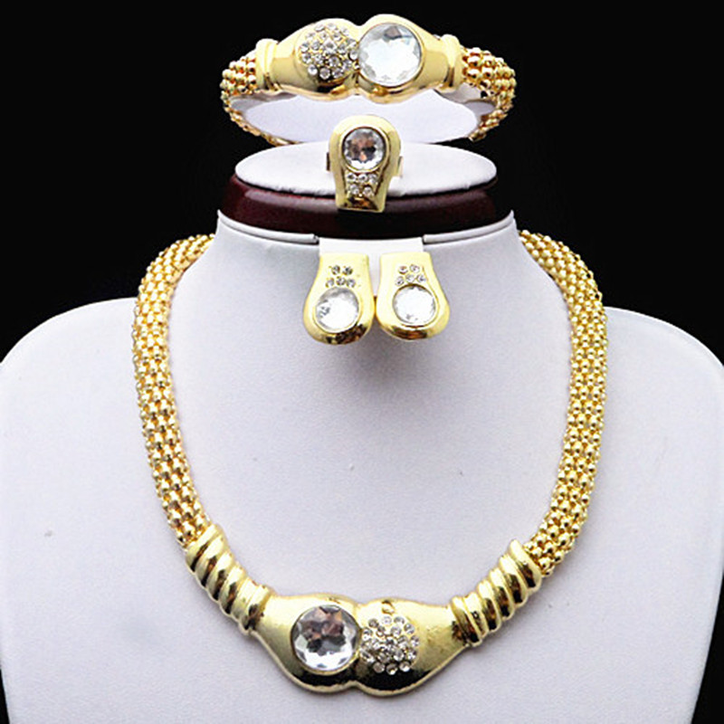 Gold Color Alloy Wedding Jewelry Sets Free Shipping Good Quality Guarantee!!