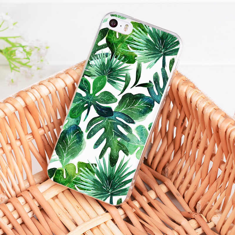 MaiYaCa ปาล์มต้นไม้ใบพืชดอกไม้สำหรับ iPhone 7 กรณีสำหรับ iPhone 11 Pro Max 8 7 6 6S Plus X 5S SE XR XS MAX