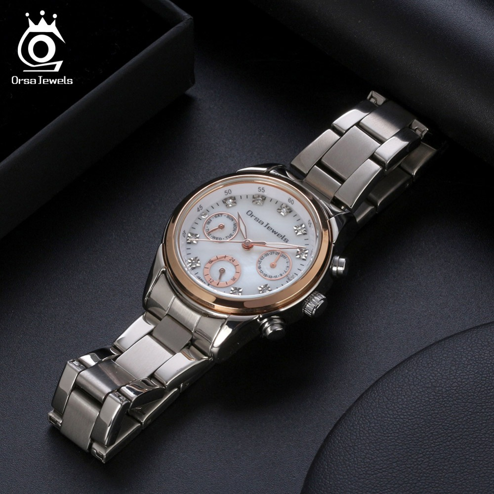 ORSA JEWELS Women Watches High Quality Stainless Steel 2019 Quartz Wristwatches Female Ladies Watch Relogios Feminino OW11
