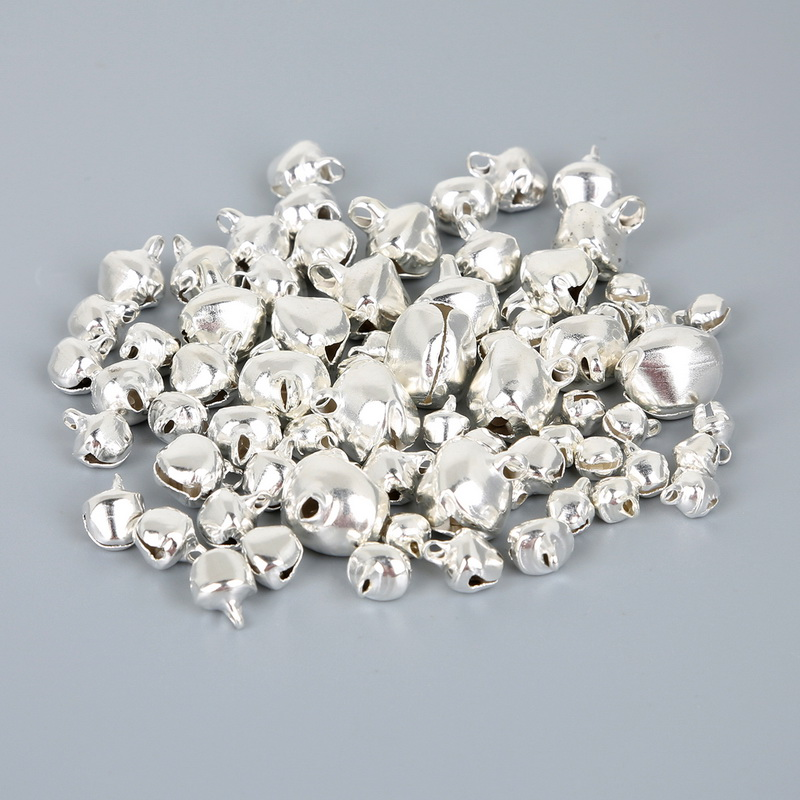 Pack of 2 50 Count 12mm Silver Crafters Square Craft Jingle Bells