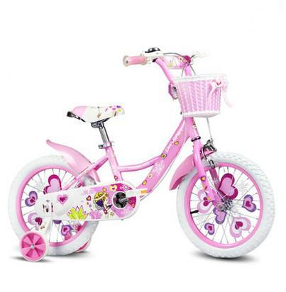 Multi-función de paso bicicleta niños ayudar a la princesa de dibujos animados coche de la bici