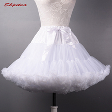 Enaguas cortas negras o blancas para boda, Lolita, mujer, chica, crinolina, esponjosa, Pettycoat