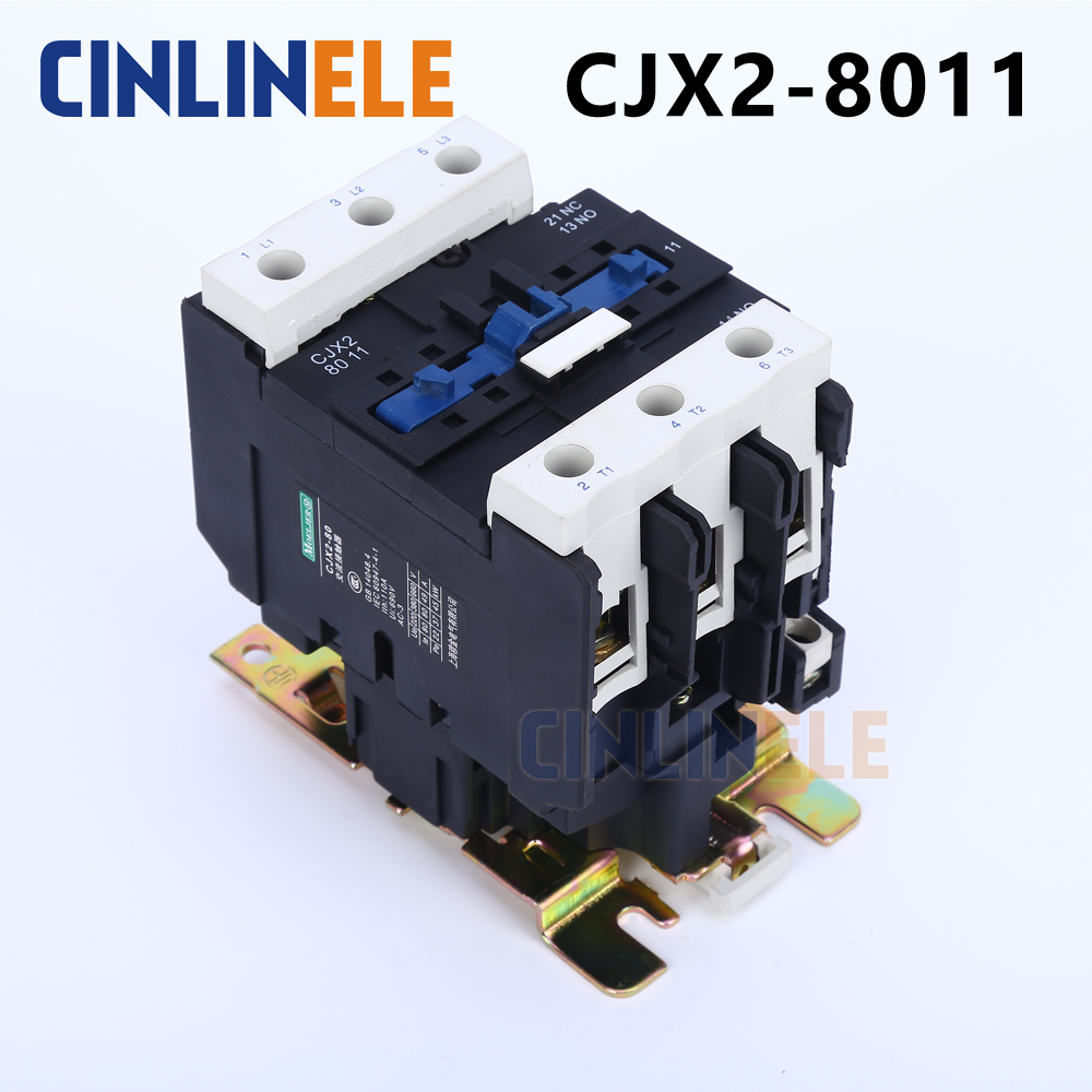 Contactor CJX2-8011 80A switches LC1 AC contactor voltage 380V 220V 110V Use with float switch new lp2k series contactor lp2k06015 lp2k06015md lp2 k06015md 220v dc