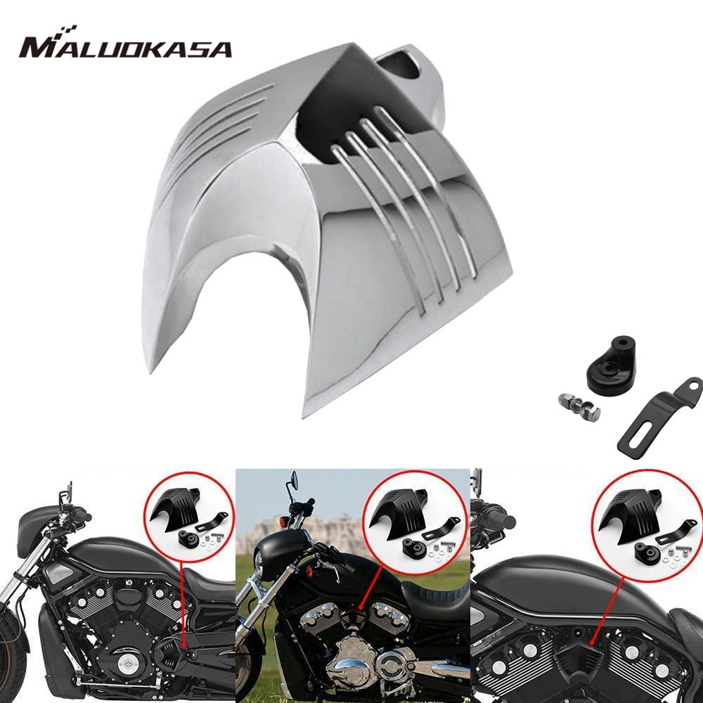 MALUOKASA Twin Cowbell V-Shield Horn Cover For Harley Touring Model Electra Road Glide Road King Motorcycle Black Chrome Cover chrome motorcycle v shield horn cover set case for harley big twins evo 1992 2012 twin cam 1988 gg