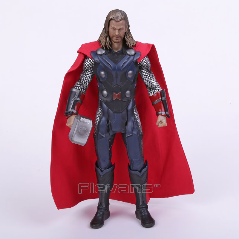 Crazy Toys Acengers Age of Ultron Thor PVC Action Figure Collectible Model Toy 12 merry christmas photography backdrops children photo studio props baby background vinyl 5x7ft or 3x5ft jiesdx001