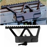Tactical Quick Detach QD AK Gun Side Rail Scope Mount with Picatinny Side Rail Mounting For AK 47 AK 74 Black Free Shipping