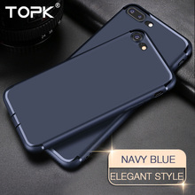 For iPhone 7 Case , TOPK Soft TPU Silicon Anti-Scratch Anti-fingerprint Shockproof Phone Cases for iPhone 7 Plus