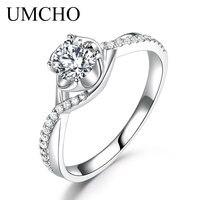 UMCHO Алмазный Муассанит Обручение кольца для Для женщин белое золото 18 карат свадебные юбилейный Свадебный вечерние, прекрасный подарок для