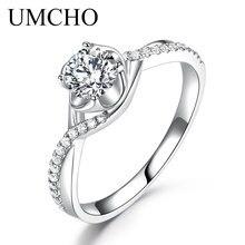 UMCHO Natural Diamond Moissanite Engagement Rings for Women