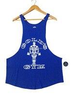 Nowy Kulturystyka Fitness Podkoszulek Tank Tops Vest Podkoszulek Bez Rękawów Mężczyźni Miękkie Bawełniane Dres