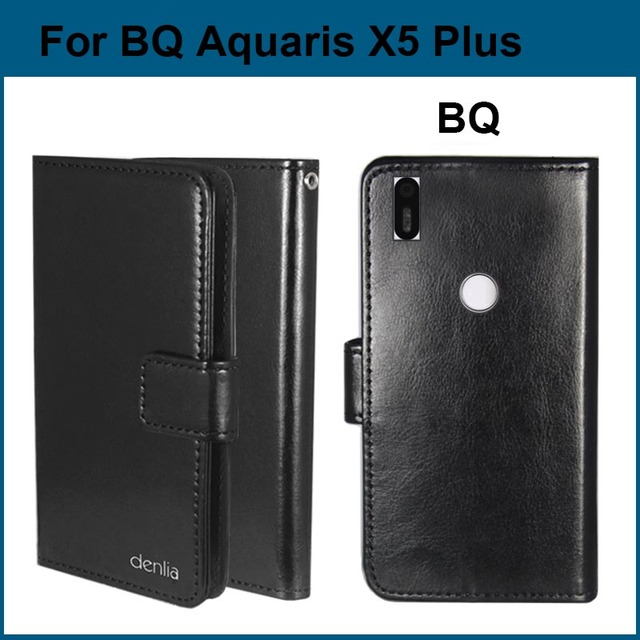 Hot! BQ Aquaris X5 Plus Case, 5 Colors High Quality PU Leather Exclusive Case For BQ Aquaris X5 Plus Tracking