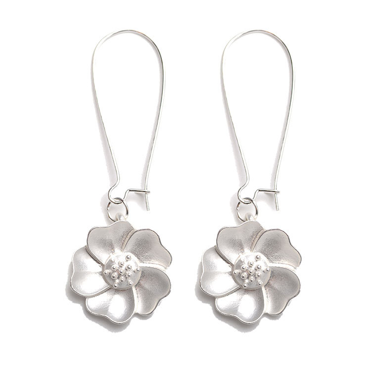 Enacolor New Fashion Lily Earring Silver Plated Cute Jasmine Ear Brincos for Women Wedding Dress Jewelery Cordao Mujer Orecchini