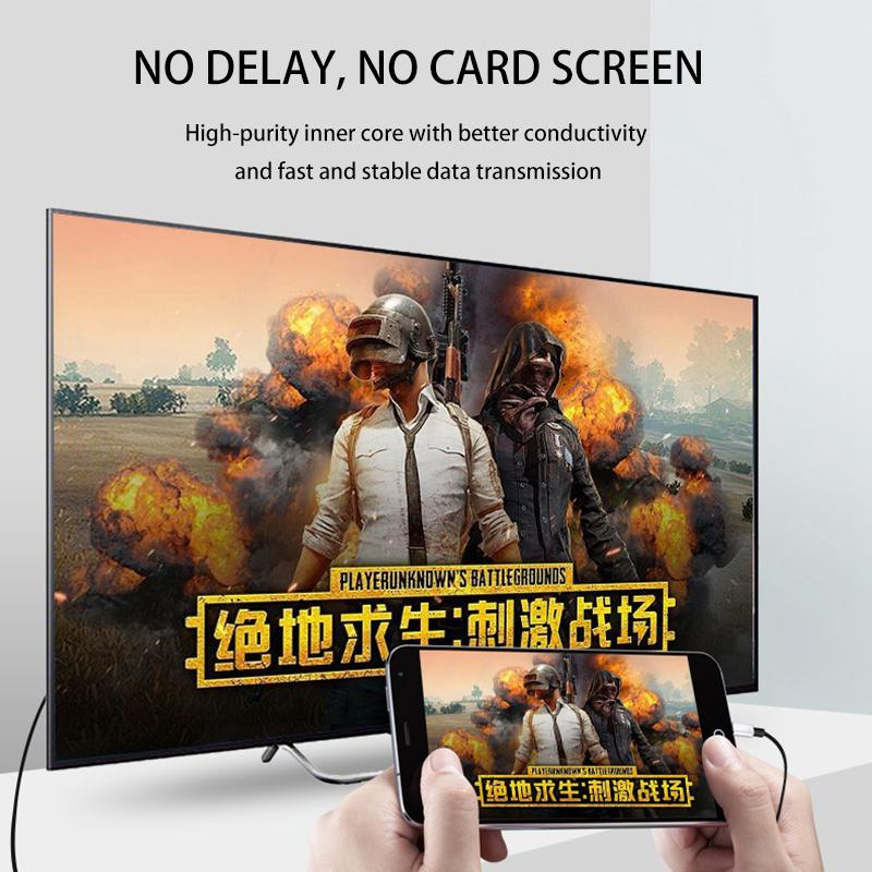 2M USB C to HDMI Male Cable HD 1080P HDMI Converter Adapter Cable Type C Cable for HDTV TV Digital AV for iPhone for IOS