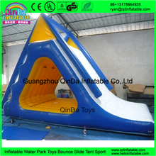 New style top quality colorful inflatable triangle water bouncer slide climbing slide, water sport game