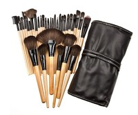 Free Shipping Professional 32 Brush Cosmetic Makeup Brush Set Kit Pouch Bag Case Pincel Maquiagem Pencil