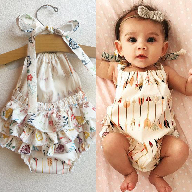 2018 Cute Children Kids Baby Girl Clothes Bodysuit Summer Sleeveless Bebes Body -4657