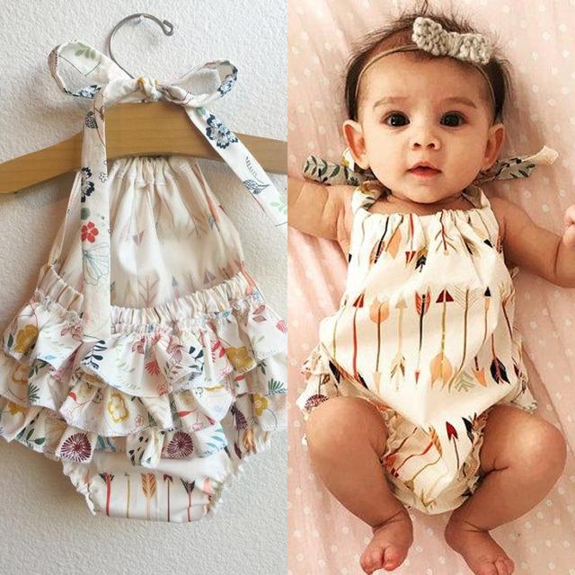 Cute Children Kids Baby Girl Clothes Bodysuit Summer ...