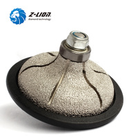 Z LION F30 Type 85mm Diamond Hand Profile Grinding Wheel Vacuum Brazed Diamond Grinding Abrasive Tool For Stone Shaping