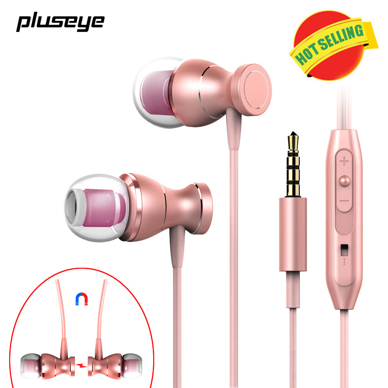 Best gift 3.5mm In-Ear music Headset Magnetic Clarity Stereo Sound with Mic for iphone h ...